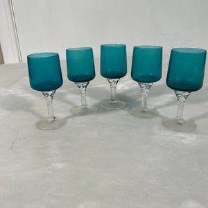 5 Vintage cordial liqueur glasses